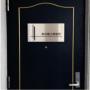 ステンレス銘板 マグネット化粧ビス止め ステンレスプレート 会社看板 会社の表札